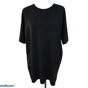 Oak + Fort Oversized Black Long T-Shirt Sz Large
